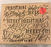 Merry Christmas Large Block Stamp in Joliet, Illinois