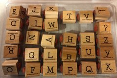 Stampin Up Simple Type Alphabet Upper & Lower Case Stamp Set in Lockport, Illinois