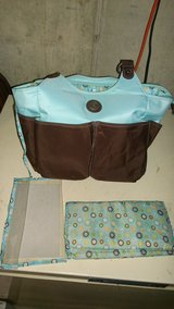 Carters everyday tote diaper bag Blue and brown in Bartlett, Illinois