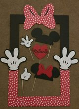 Minnie Mouse Photo Props w/ Frame (Home Made) in Travis AFB, California