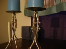 """2 Silver Tone Branch Bead Candle Holders 8"""" in Kingwood, Texas"""