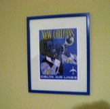 Vintage Delta Airlines New Orleans Print Advertising Poster Photo Trumpet Jazz in Kingwood, Texas