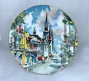 """Royal Doulton 1976 NEW ORLEANS French Quarter Plate Dong Kingman 10 1/4"""" in Kingwood, Texas"""