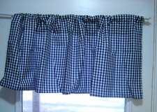 """Black White Check Gingham Valance Window Decor 16""""x44"""" Curtain Country Rustic in Kingwood, Texas"""