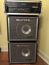Hartke LH500 Bass amplifier with speaker cabinets in Beaufort, South Carolina