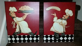 Red / Checkered / Pasta Chef / 2 Piece Pictures in Fort Campbell, Kentucky
