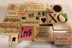 20 Wood Block Stamps for Card making & Scrapbooking in Lockport, Illinois