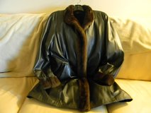 New Ladies Leather Fur Winter Coat Size Large in Bartlett, Illinois