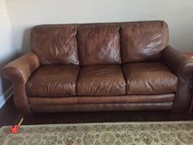 Brown Leather Sofa in Bartlett, Illinois