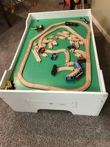 Train Table with tracks and trains in Algonquin, Illinois