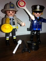 Playmobil Fire and Police Figures in Bolingbrook, Illinois