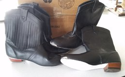 2 Pairs of Black Mitzi Boots for Dancing - 1 with Fringe, Suede Soles 7.5 in Macon, Georgia