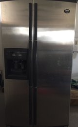 REDUCED-WHIRPOOL RFRIGERATOR STAINLESS STEEL-$475 (OBO) in Fort Bliss, Texas