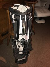 Ogio Grom White Charc Golf Hybrid Stand Bag 14-Way Top Full Club Dividers in Ramstein, Germany