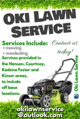 Slots open for lawn care services! Contact us today! in Okinawa, Japan