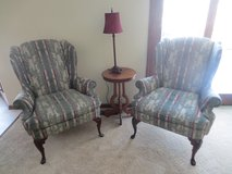 Victorian Style Wing Back Chairs in Elgin, Illinois