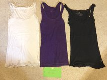 Am. Eagle Outfitters Tank tops (s/p) White & Dark Purple in Naperville, Illinois