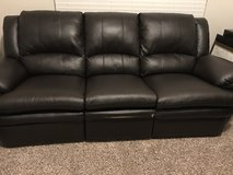 Leather recliner sofa in Fort Lewis, Washington