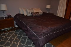 Bed Spread / Comforter, Bed Skirt and Decorative Pillows in Joliet, Illinois