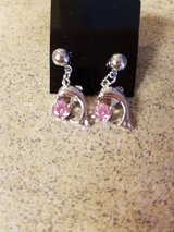 NEW Dolphin earrings with pink jewel in Watertown, New York