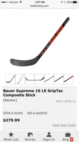 Bauer Supreme 1S Hockey Stick LE Left - NEW in Joliet, Illinois