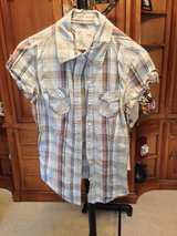 Plaid Short sleeve shirt by Girl Krazy - S in Naperville, Illinois