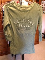 American Eagle Green long sleeve - s/p in Naperville, Illinois
