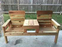 Patio bench with table in Kingwood, Texas