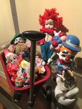 Old Ceramic Clown Collection in Fort Rucker, Alabama