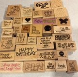 33 Assorted Stampin Up Rubber Stamps & Ink Pads in Naperville, Illinois