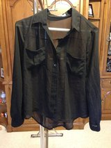 Black thin long sleeve shirt by Mine - S in Naperville, Illinois