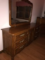 Solid wood dresser and king sz bed in Aurora, Illinois