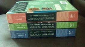 Norton Anthology of American Literature textbook volumes CDE 8th edition Cccc in Camp Lejeune, North Carolina