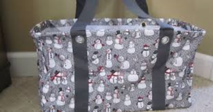 Thirty One Medium Utility Tote (Snowman Print) in Perry, Georgia