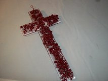 Clear n Red glass Cross--016 in Spring, Texas