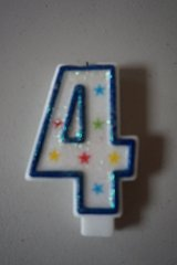 #4 Birthday Candle Blue in Chicago, Illinois