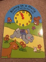 Tell the time bunny book in Lakenheath, UK