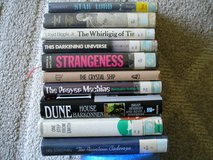 10 SCIENCE FICTION and/or FANTASY HARDCOVER BOOKS in Shorewood, Illinois