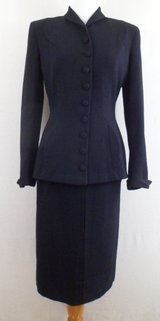 Marshall Field & Company 1950's Jr. Couture Wool Suit by Alvin Handmacher in DeKalb, Illinois