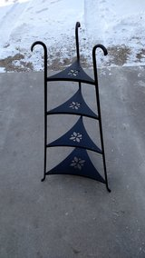 Wrought iron stand in Fort Riley, Kansas