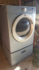 Front load Dryer w/pedestal in Joliet, Illinois