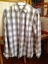 Brown & Grey Plaid long sleeve shirt by Urban Pipeline - S in Naperville, Illinois