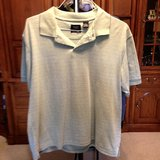 Short Sleeve shirt - knit green w/stripes by Haggar - Lg. in Naperville, Illinois