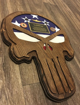 Punisher plaques in Temecula, California