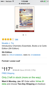 Introductory chemistry 5th edition in Fort Irwin, California