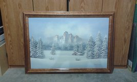 Winter Scene Painting in Belleville, Illinois