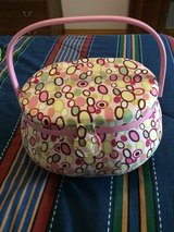 Sewing Basket with Fabric in Ramstein, Germany