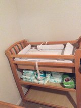 Beautiful Crib and Changing table with changing pad set unisex color Best offer( Cash Only) text... in Oceanside, California