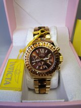 Invicta Angel Multi-Function Brown Dial Gold-plated Tortoise-shell Ladies Watch (NEW) in Camp Lejeune, North Carolina