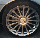 20 inch rims chrome with new tires in Camp Lejeune, North Carolina